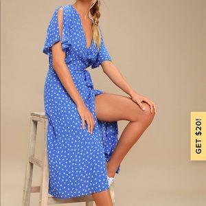 Lulu's Blue midi floral dress